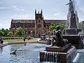 St Mary's Cathedral behind Archibald Fountain - panoramio.jpg