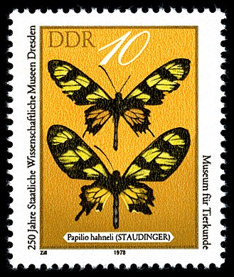 State Museum of Zoology, Dresden - DDR stamp celebrating 250 years of the Museum für Tierkunde, Dresden