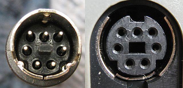File Standard 7 Pin Mini-din Connectors  Male And Female Jpg