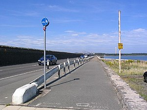Stanley Embankment - The Embankment looking towards Holy Island