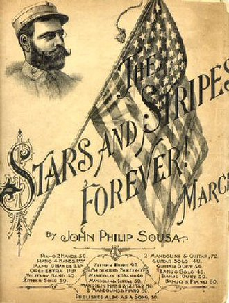 American march music - Sheet music cover for the The Stars and Stripes Forever March, written by John Philip Sousa