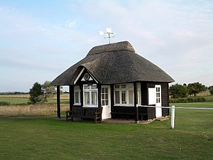 Royal St George's Golf Club - The starters hut at the 1st hole