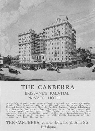 Canberra Hotel, Brisbane - Canberra Hotel, 1935