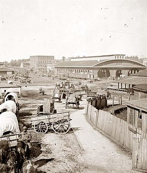 History of Atlanta - Antebellum Atlanta: State Square and the first Union Station