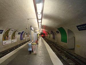Porte de la Villette (Paris Métro) - Image: Station Villette Est