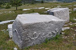 Stećak - Two stećci with motifs of kolo.