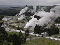 Steam pipelines towards Wairakei geothermal power station.jpg