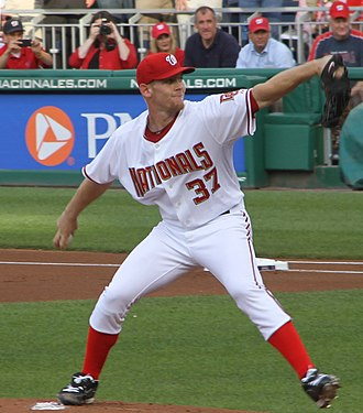 Stephen Strasburg - Strasburg pitching in his MLB debut