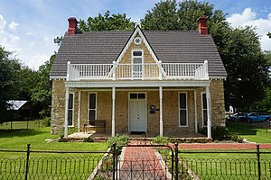 Stephenville, Texas - Historical House Museum in Stephenville is an 1869 Victorian home with period furnishings and relics of area history. There is also a carriage house and a reconstructed log cabin.