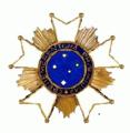 Ster van de Orde van het Zuiderkruis Modern Brazilië.png