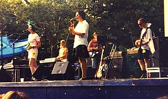 Stereolab - Stereolab performing in Central Park, New York City (1995)