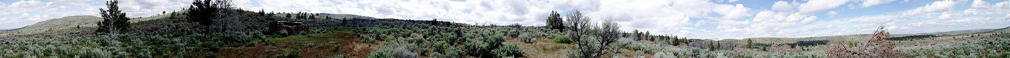Panorama of the high desert in Central Oregon