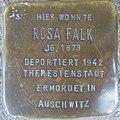 Stolperstein Düren Oberstraße 27 Rosa Falk.JPG