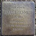 Stolperstein Geibelstraße 24 (August Schmidt) in Hamburg-Winterhude.jpg