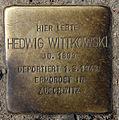 Stolperstein Hobrechtstr 57 (Neuk) Hedwig Wittkowski.jpg