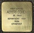 Stolperstein für Albert Cohen (Köln).jpg