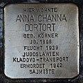 Stolperstein für Anna Channa Dortort.JPG