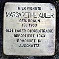 Stolperstein loeherstr 21 adler margarethe.JPG