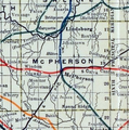 Stouffer's Railroad Map of Kansas 1915-1918 McPherson County.png