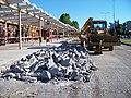 Strašnice, Skalka, vozovka v rekonstrukci (05).jpg