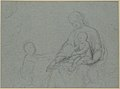 Studies of Two Flying Putti and of Drapery (recto); Seated Virgin and Child, and Kneeling Child (verso) MET 1975.131.48 VERSO.jpg
