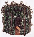 Sukkah Italy 1374 Brit-Lib MS Or 5024 fol 70v from Metzger Jewish Life in the Middle Ages fig369.JPG