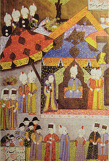 Suleiman receiving Isabella and her son Sigismund circa 1540.jpg