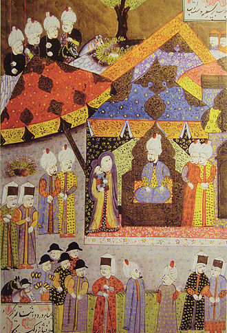Isabella Jagiellon - Suleiman receives Isabella and her infant son John Sigismund in 1541