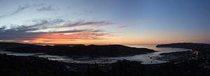 Porirua Harbour - Sunset over Porirua Inlet and Harbour entrance