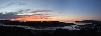 Porirua Harbour - Sunset over Porirua Inlet and Harbour entrance
