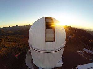 Siding Spring Observatory - Image: Sunset at SSO