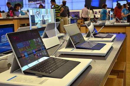 Surface Pro 3, part of the Surface series of laplets by Microsoft SurfacePro3.JPG