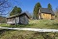 Sverresborg Trøndelag Folkemuseum cultural history open-air museum Trondheim Norway 2019-04-26 Haltdalen stavkirke Stave church (1170s) Lafta hus (small log house) 06107.jpg