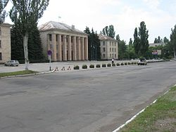 Main square of Svitlovodsk