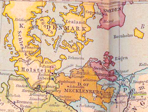 Swedish Pomerania - Swedish Pomerania (centre-right) in 1812