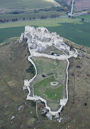 Spiš Castle - Aerial photography of the castle