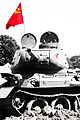 T-34-85 tank with the flag of the Soviet Union.jpg