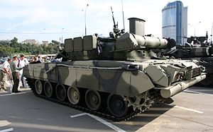 T-80U of the Russian Army - rear side view.jpg