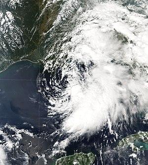 Tropical Storm Hanna (2002) - Image: TS Hanna 13 sept 2002 1920Z