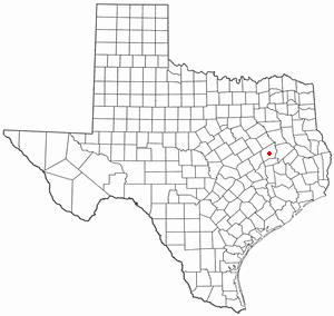 Centerville, Texas - Image: TX Map doton Centerville Leon