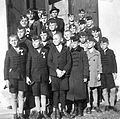 Tableau, kids, uniform, caps Fortepan 5644.jpg