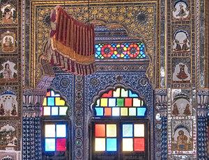 Punkah wallah - A Punkha with cord, Takhat Vilas, Mehrangarh Fort Palace, Jodhpur.
