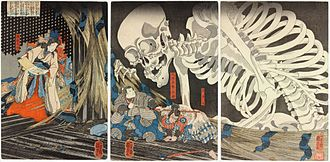 Utagawa Kuniyoshi - Image: Takiyasha the Witch and the Skeleton Spectre