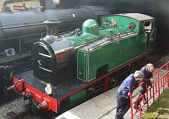 Tank locomotive - An example with a tapered front and an access aperture