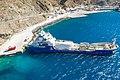 Tanker at Santorini Ferry Port in Greece.jpg