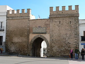 Siege of Tarifa (1812) - Puerta de Jerez, a Tarifa city gate from the Middle Ages