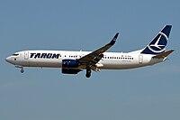 Tarom, YR-BGK, Boeing 737-82R (42582531500).jpg