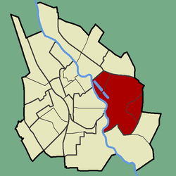 Location of Annelinn in Tartu.