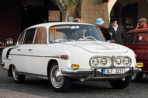 Tatra 603 - Image: Tatra 2 603, 2013 Oldtimer Bohemia Rally 02