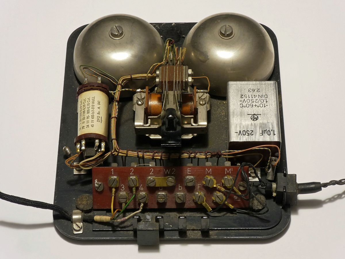 Photograph of a telephone.